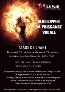 STAGE DE CHANT VOCAL MANIA - Puissance Vocale