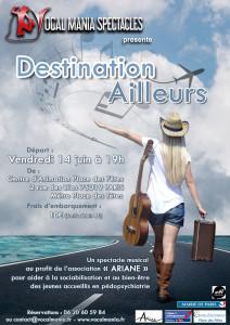 Vocal Mania - Affiche Spectacle Destination ailleurs